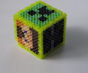 Minecraftのキャラキューブ アイロンビーズの図案