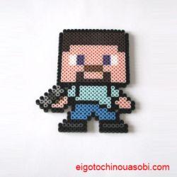 Minecraftのヒゲおじさん Steve?  マイクラのアイロンビーズの図案