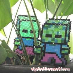 アンデッドMobがでた!Minecraft MOB#3 Zombie マインクラフトアイロンビーズの図案