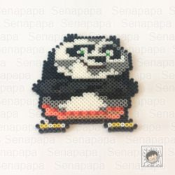 Kung Fu Panda3のPO アイロンビーズの図案