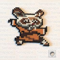 Kung Fu Panda3のShifu アイロンビーズの図案